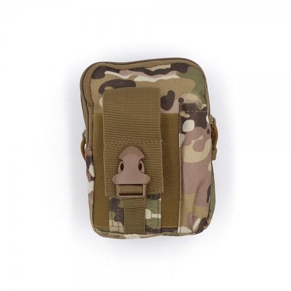 Survival Bag mit Gürtelschlaufe und Zubehör wie Karabiner, Taschenlampe und vieles mehr